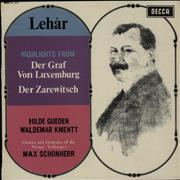 Click here for more info about 'Franz Lehár - Highlights From Der Graf Von Luxemburg / Der Zarewitsch'