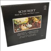 Franz Schubert Music For Violin And Piano (Complete) USA vinyl box set