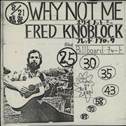 Click here for more info about 'Fred Knoblock - Why Not Me + Promo Insert'