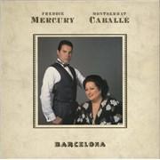 Freddie Mercury Barcelona - Embossed Sleeve - VG/EX UK vinyl LP