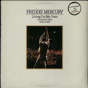 Click here for more info about 'Freddie Mercury - Living On My Own - Gold Promo Stamped - Sealed'