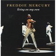 """Freddie Mercury Living On My Own UK 7"""" vinyl"""
