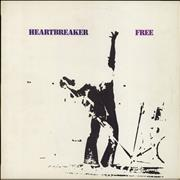 Click here for more info about 'Free - Heartbreaker - 1st - partially stickered p/s - VG'