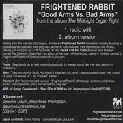 Click here for more info about 'Frightened Rabbit - Good Arms Vs Bad Arms'