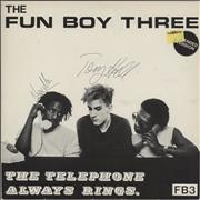 Click here for more info about 'Fun Boy Three - The Telephone Always Rings - Autographed'