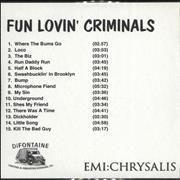 Click here for more info about 'Fun Lovin Criminals - Fun Lovin Criminals - 15'