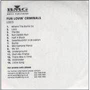 Click here for more info about 'Fun Lovin Criminals - Loco - 14 tracks'