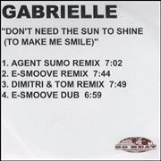 Click here for more info about 'Gabrielle - Don't Need The Sun To Shine - 4 track'