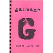 Garbage 1996 Tour - UK & Europe UK Itinerary