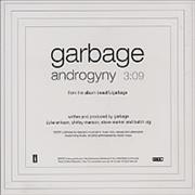 Garbage Androgyny USA CD single Promo