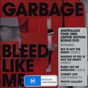 Garbage Bleed Like Me Australia 2-disc CD/DVD set