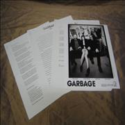Garbage Bleed Like Me USA press pack Promo