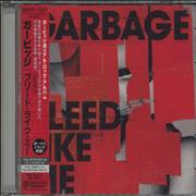 Garbage Bleed Like Me Japan CD album
