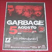 Garbage Mexico City Concert 2005 Mexico poster