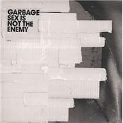 "Garbage Sex Is Not The Enemy - White vinyl - White Tape UK 7"" vinyl"
