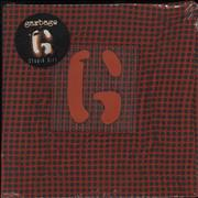 "Garbage Stupid Girl - Red Fabric Sleeve - Sealed UK 7"" vinyl"