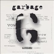 Click here for more info about 'Garbage - Vow'