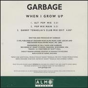 Garbage When I Grow USA CD single Promo