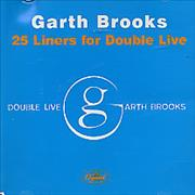 Click here for more info about 'Garth Brooks - 25 Liners For Double Live'