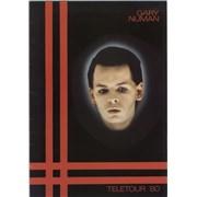 Gary Numan Teletour '80 + Merch Insert UK tour programme