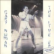 Click here for more info about 'Gary Numan - The Live EP - Blue Vinyl'