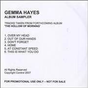 Click here for more info about 'Gemma Hayes - The Hollow Of Morning - Album Sampler'