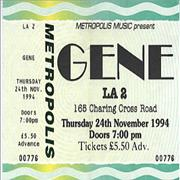 Click here for more info about 'Gene - Concert Ticket'