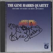 Click here for more info about 'Gene Harris - Listen Here! - Autographed'