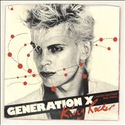 Click here for more info about 'Generation X - King Rocker - Red Vinyl + P/S - EX'