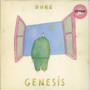Genesis Duke - stickered UK vinyl LP