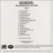 Click here for more info about 'Genesis - Platinum Collection'
