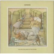 Genesis Selling England By The Pound - Blue Label + lyric insert UK vinyl LP