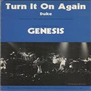 Click here for more info about 'Genesis - Turn It On Again'