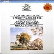 Georg Philipp Telemann Overtures in G minor & D minor Germany vinyl LP