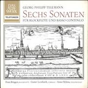 Georg Philipp Telemann Sechs Sonaten Für Blockflöte Und Basso Continuo Germany vinyl LP