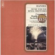 George Frideric Handel Handel: Music For The Royal Fireworks / Concerto For Double Orchestra No.1 in B Flat Major UK vinyl LP