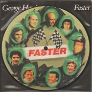 """George Harrison Faster + Insert UK 7"""" picture disc"""