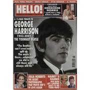 George Harrison Hello - December 2001 UK magazine