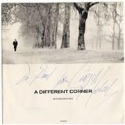 "George Michael A Different Corner - autographed UK 7"" vinyl"