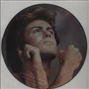 "George Michael Careless Whisper - Black Rimmed UK 12"" picture disc"
