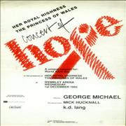 George Michael Concert Of Hope - Autographed UK tour programme