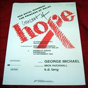 George Michael Concert Of Hope UK tour programme