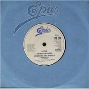 "George Michael Cowboys And Angels UK 7"" vinyl Promo"