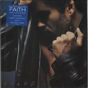 George Michael Faith - Stickered Sleeve Netherlands vinyl LP
