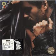 George Michael Faith - Tri-Stickered Shrink Japan vinyl LP