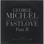 George Michael Fastlove Part Ii UK CD single Promo
