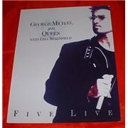 George Michael Five Live Colour Press Relese USA memorabilia Promo
