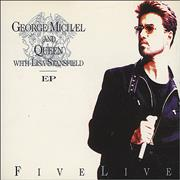 George Michael Five Live E.P. - Part 1 UK CD single