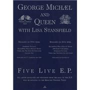 George Michael Five Live E.P. UK display Promo