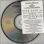 George Michael Five Live E.P. UK CD single Promo